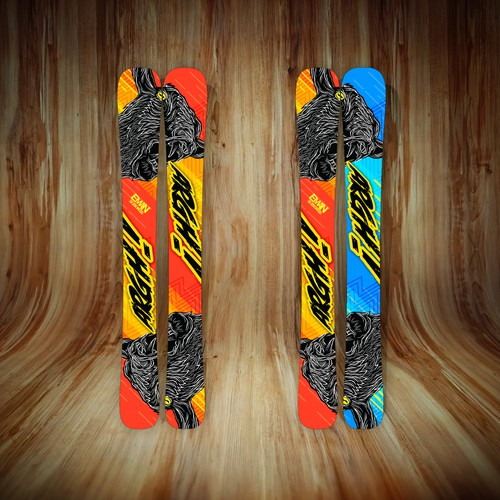 Short Skis design