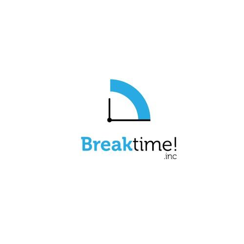 Breaktime logo concept.