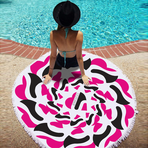 Promotional towel design for a swimsuit brand