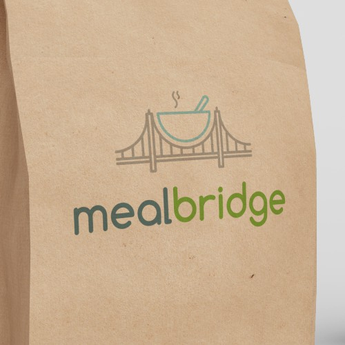 Clean and Simple Concept Logo for MealBridge!