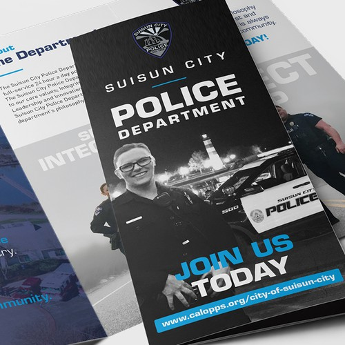 Suisun City Police Department Tri-Fold Brochure