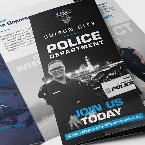 Suisun City Police Department Tri-Fold Brochure