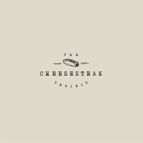 logo concept for the cheesesteak project
