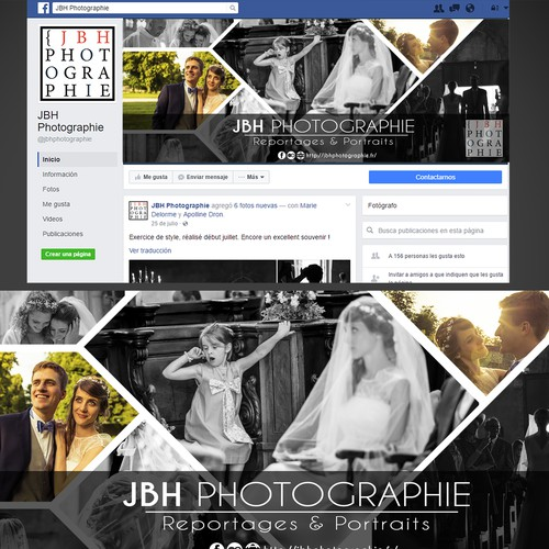Pro opuesta de cover de Facebook; JBH Photograpie