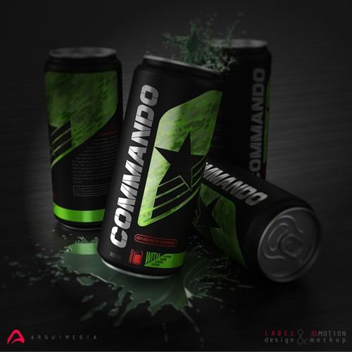 energy drink 3d motion mockups and label design