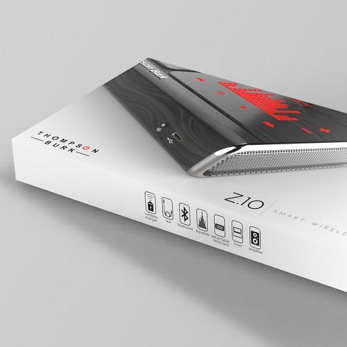 Design a packaging box for wireless speaker