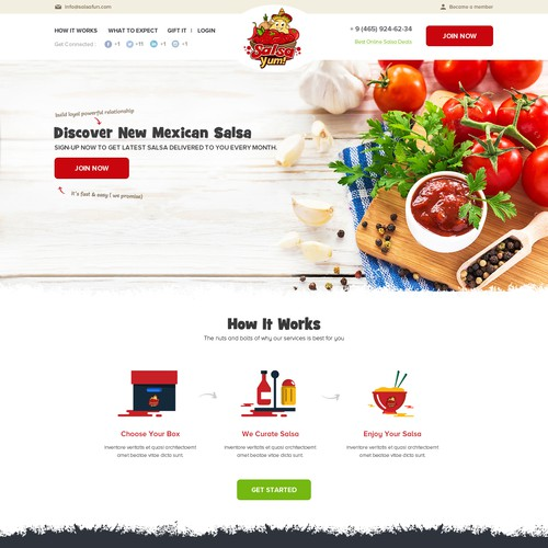 Food Website Design
