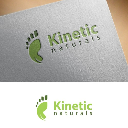 simple and unique logo for Kinetic Naturals