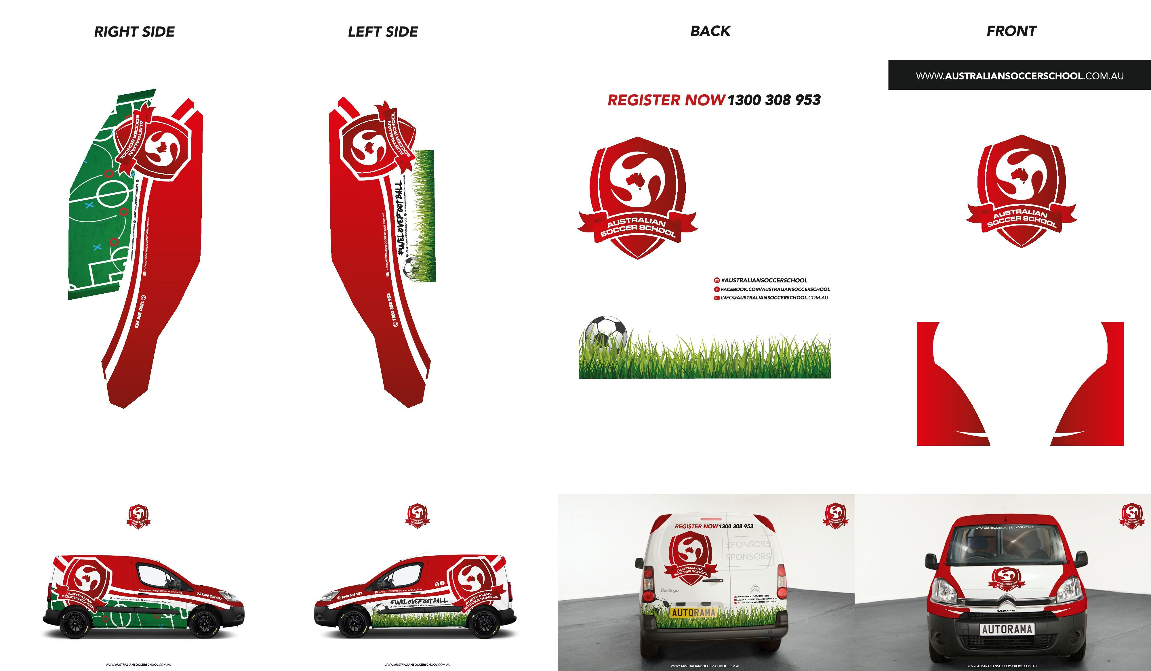 Create a Fun, Modern Design for an Academy Company Van