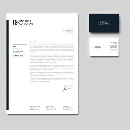 Johnsons Corporate: modernised brand identity