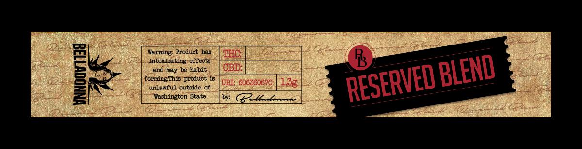 Joint Vial Label: Belladonna Reserve Blend