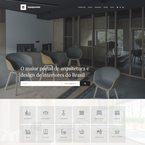 Interior design e-commerce and architecture marketplace website
