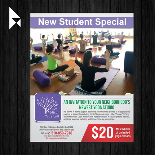 Addison Yoga Loft Flyer