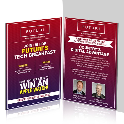 Tech Breakfast Invitation for Radio Industry Conference