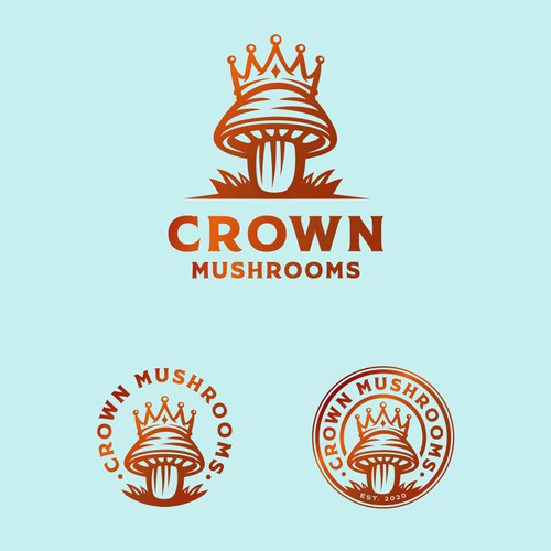 Logo concept for Crown Mushrooms