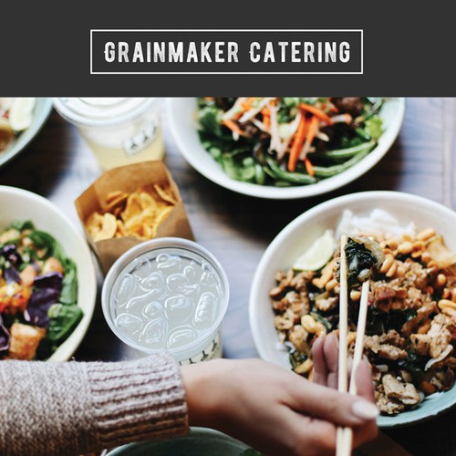 Catering Menu Design for GRAINMAKER, Boston