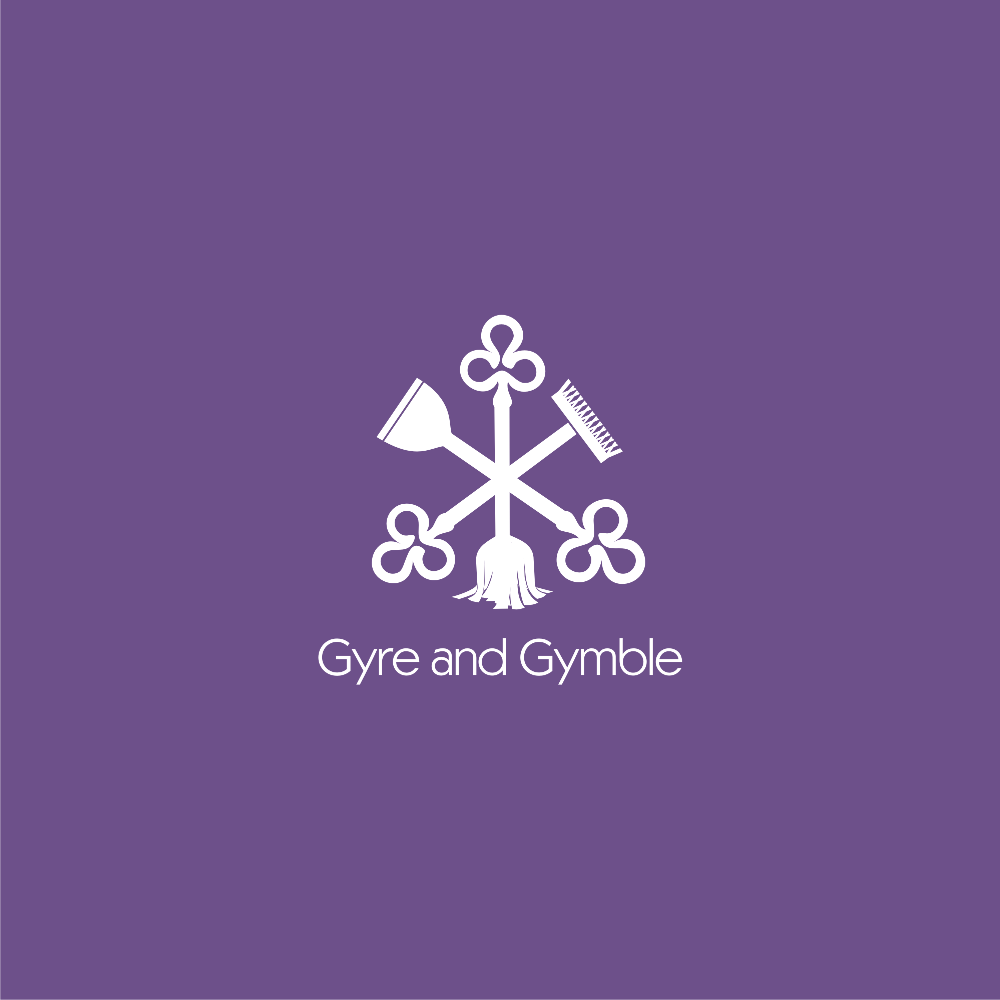 Create a logo and brand identity for Gyre & Gymble
