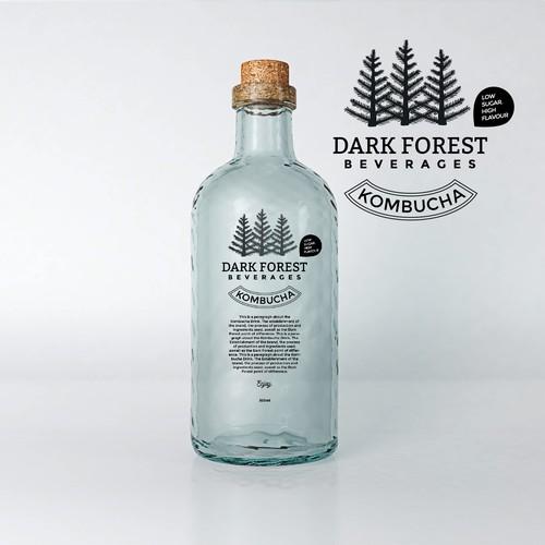 Simple + Clean beverage logo design