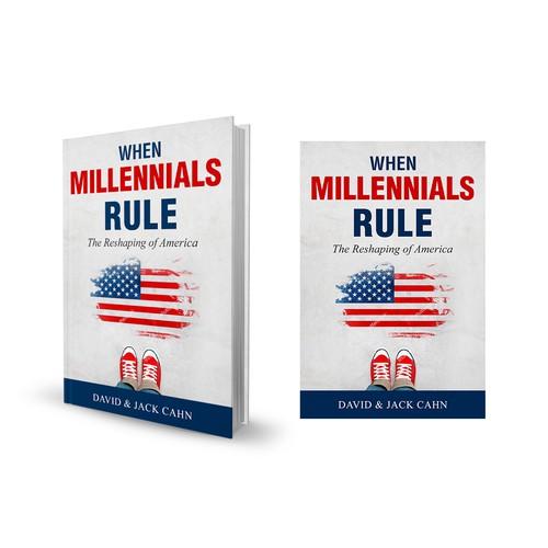 Book cover design for When Millennials Rule
