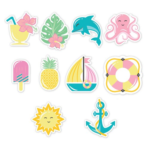Illustrations for printing on glazed cookies