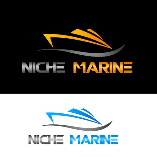 create a sharp clean logo for a marine sales business