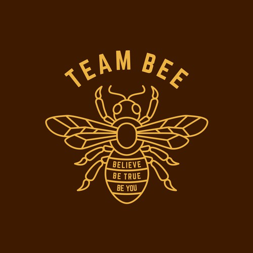 Monoline bee logo