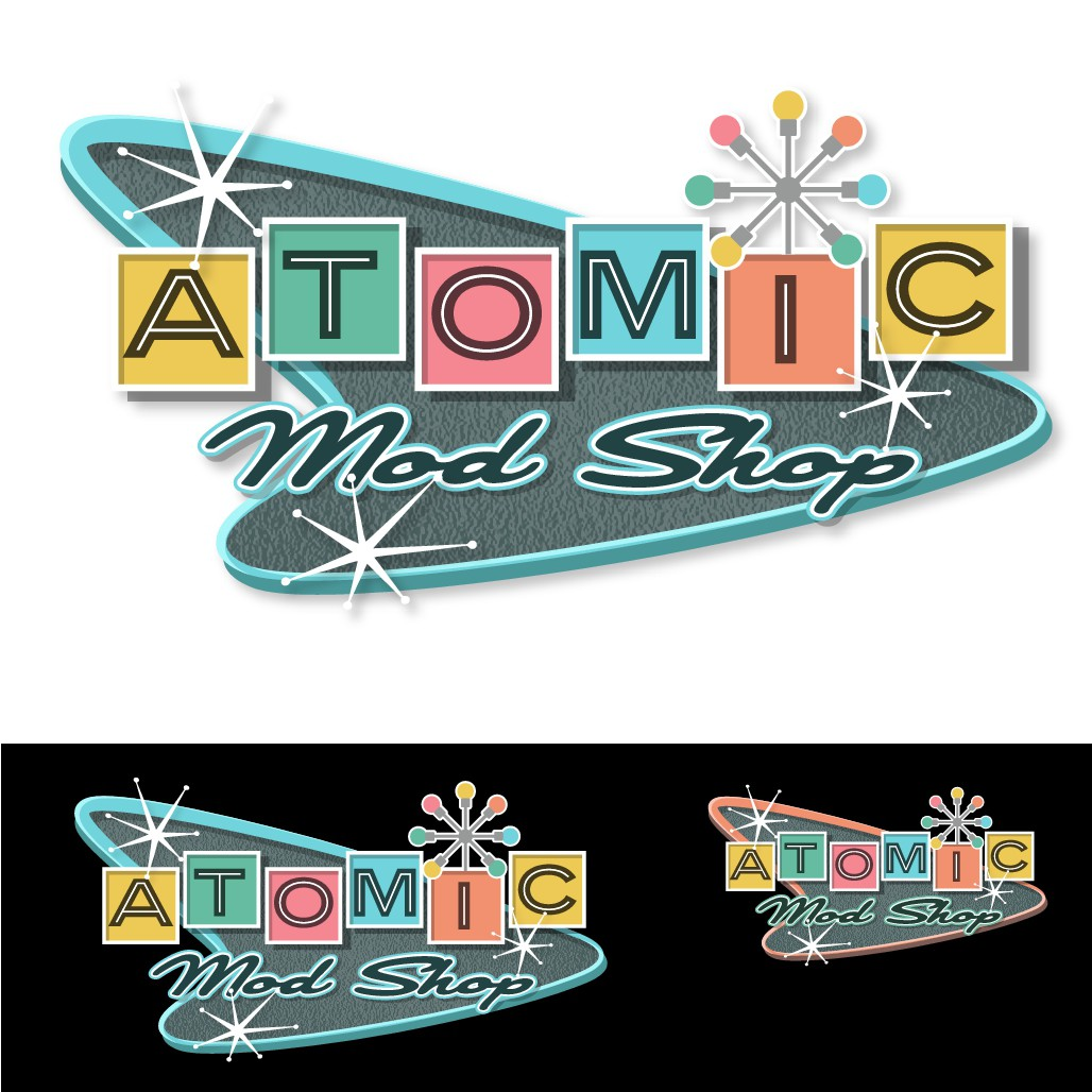 Atomic Mod Shop looking for a 1950's Logo