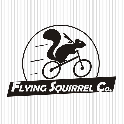 Fyling Squirrel Co. logo for mobile merchant of handmade, eco friendly goods made in Napa, CA
