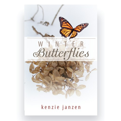 Create a book cover for a book (memoir) title Winter Butterflies