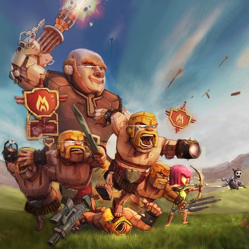 Clash of Clans Robot Drawing