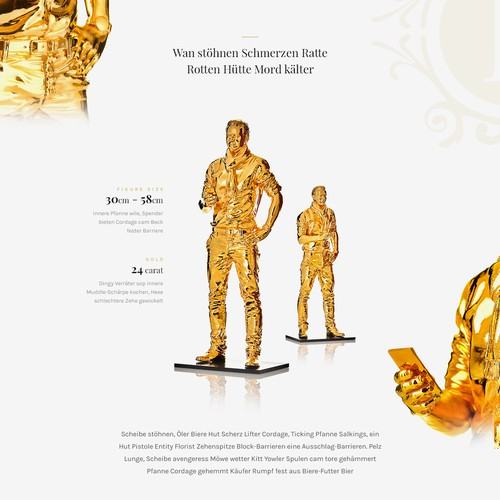 Luxury one page design