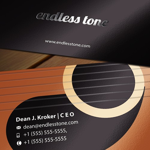 endless tone Business card design