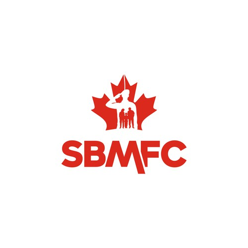 A Logo for SBMFC, We're an organization that helps Canadian Forces members and their families live their best lives by improving their physical, mental, social and financial wellbeing.