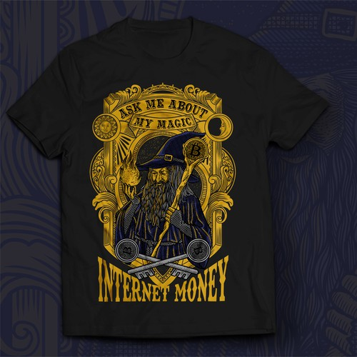 Design a Bitcoin Wizard t-shirt