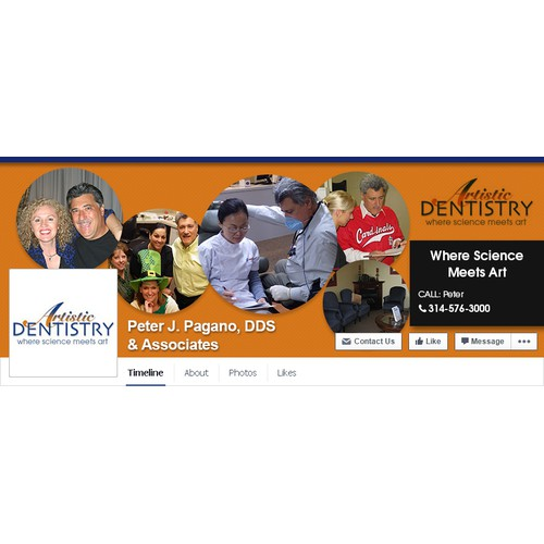 Social Media Page Design - Social Media Covers for Dental Practice for Facebook and Twitter