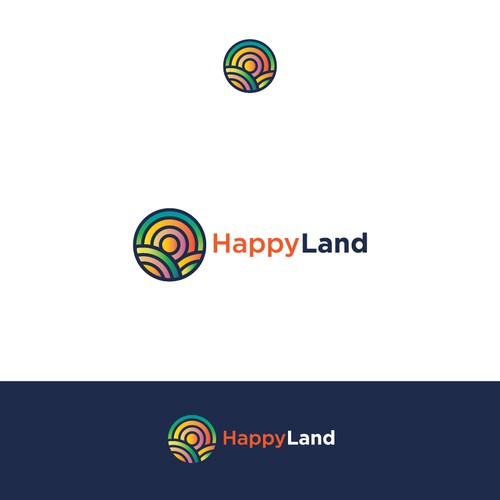 Playful logo for Happy Land