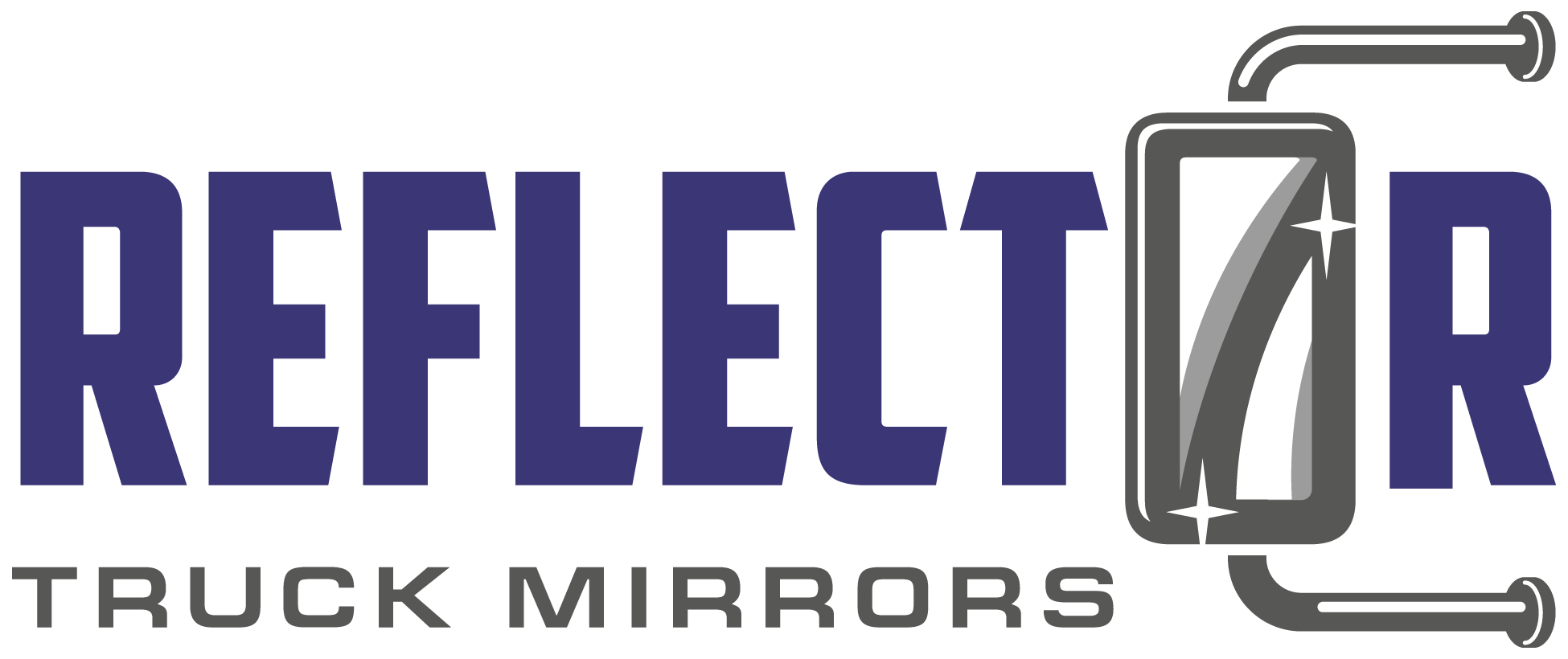 18-wheeler truck mirrors logo design