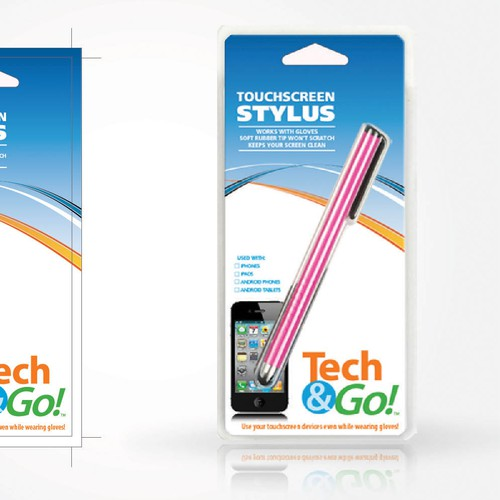 Product packaging for Tech & Go