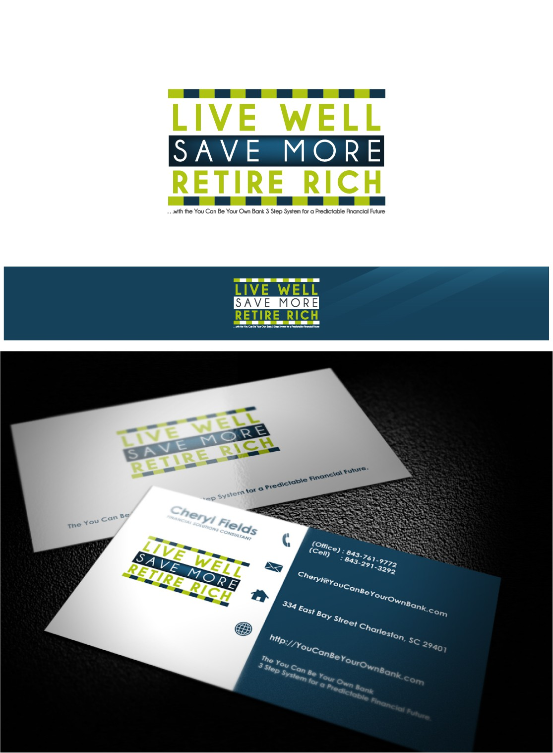 New logo wanted for Live Well. Save More. Retire Rich.