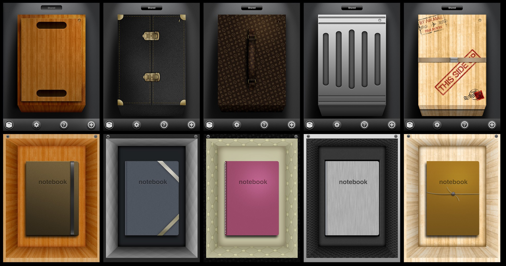 "Beautiful iPad ""Boxes and Notebooks"" App Design Contest"