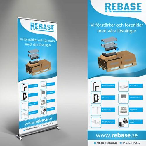 Design a roll-up for the swedish HVAC supplier Rebase