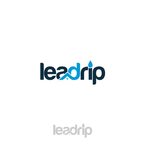 wordmark logo design for real estate marketing leadrip