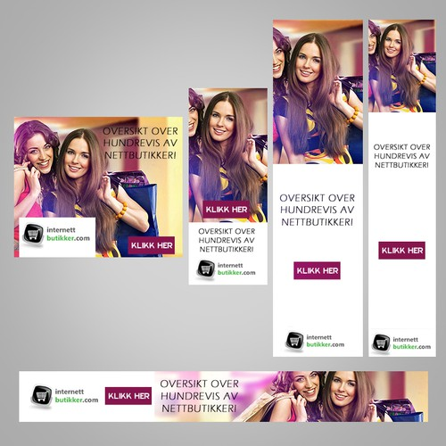 Design banners for InternettButikker.com