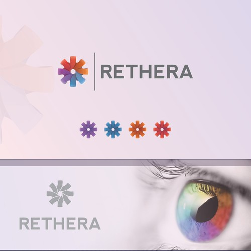 Create a defining logo for an emerging company in the medical field of Ophthalmology