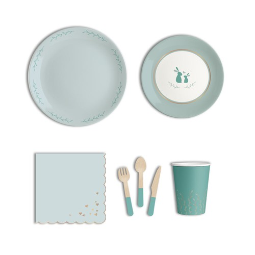 baby shower plate set design