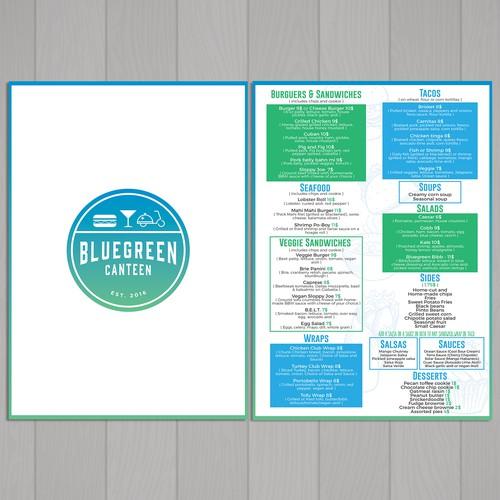 Menu for Bluegreen Canteen