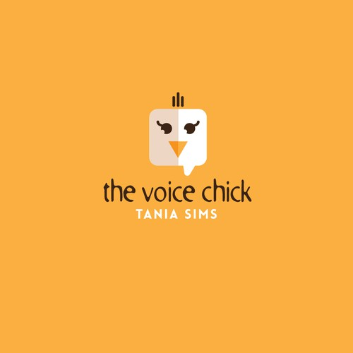 Quirky Logo concept for The Voice Chick