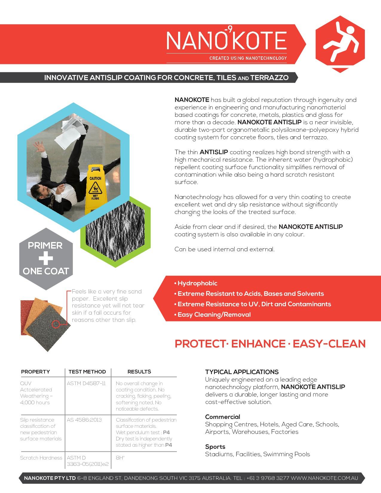 Design a new Nanotechnology Antislip Coating for Floors