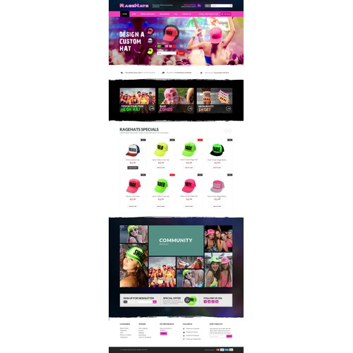 Custom Hats eCommerce Website Design