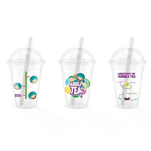 Bubble Tea Cup Design for a chain store in BC Canada